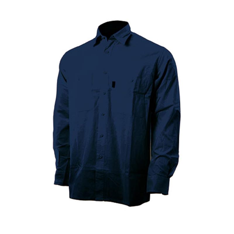CAMICIA BLUE TECH TELA 100%COTONE 160 GR 2 TASCHE SUL PETTO CON BOTT. PORTAPENNA
