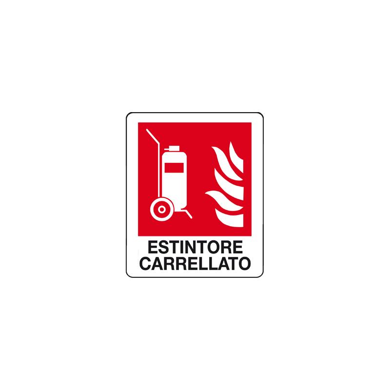 ESTINTORE CARRELLATO CARTELLO ADESIVO 100X120 ANTINCENDIO