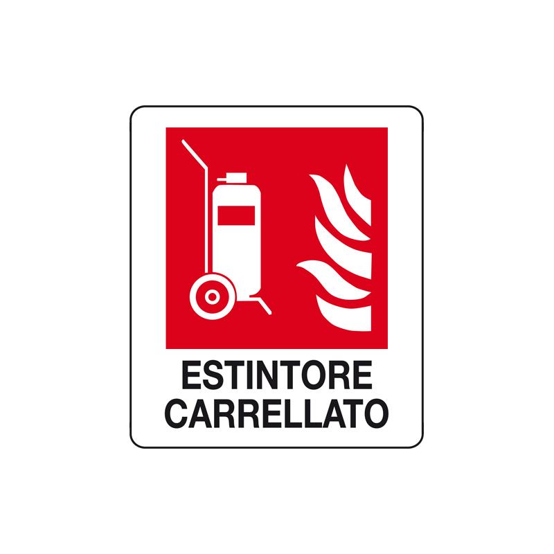 ESTINTORE CARRELLATO CARTELLO ALLUMINIO 150X175 ANTINCENDIO