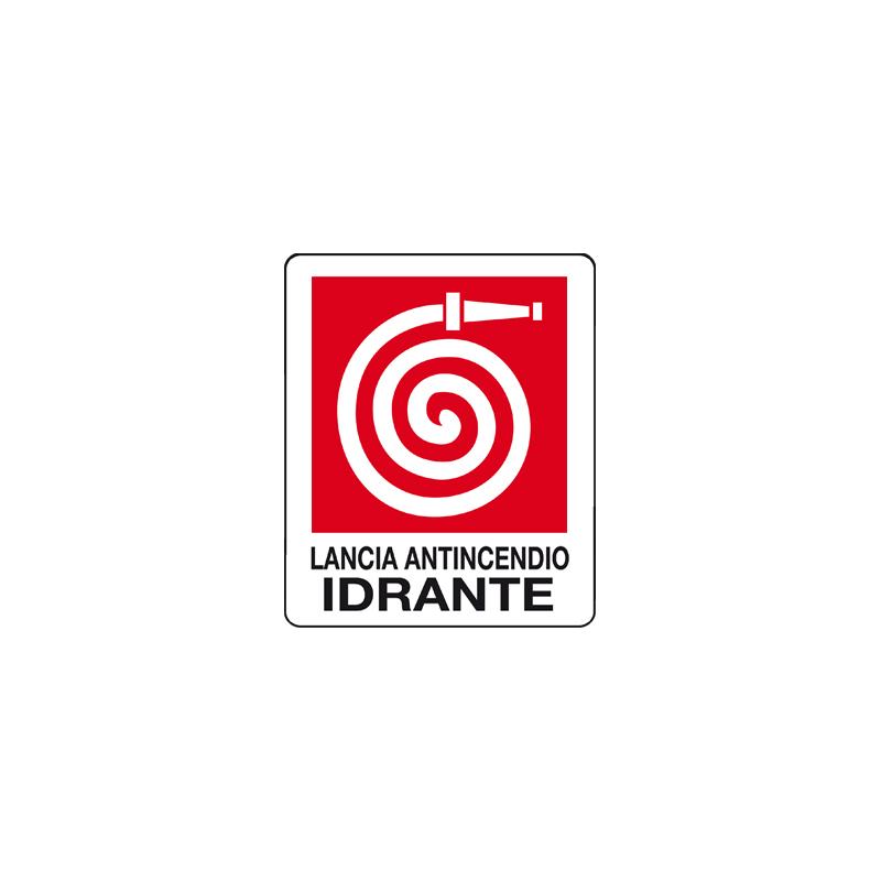 LANCIA ANTINCENDIO IDRANTE CARTELLO ADESIVO 100X120 ANTINCENDIO