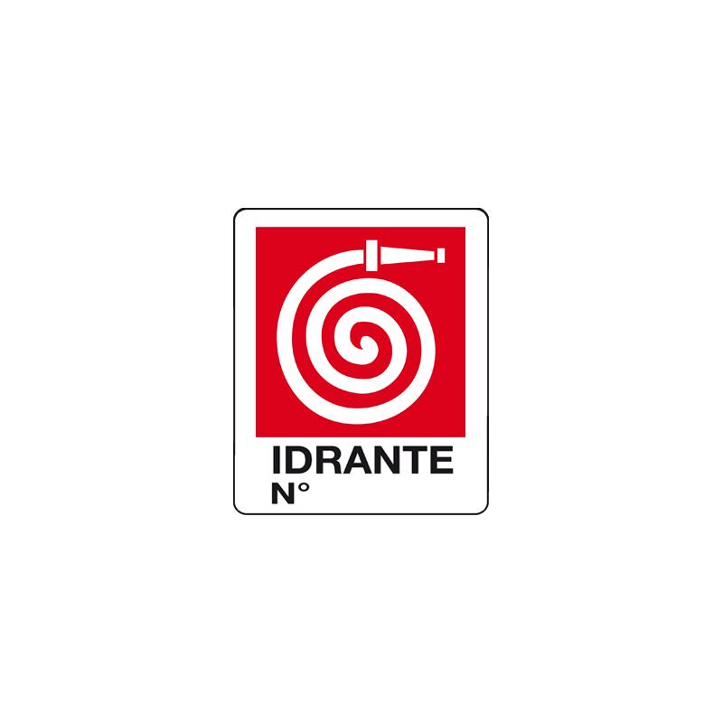 IDRANTE N° CARTELLO ADESIVO 100X120 ANTINCENDIO