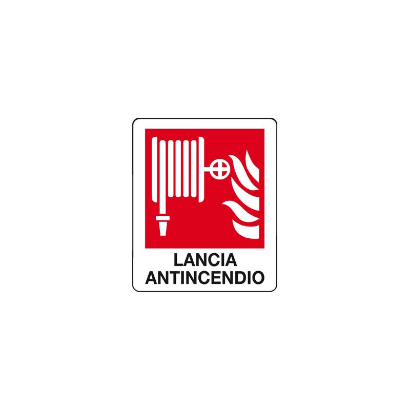 LANCIA ANTINCENDIO CARTELLO ADESIVO 100X120 ANTINCENDIO