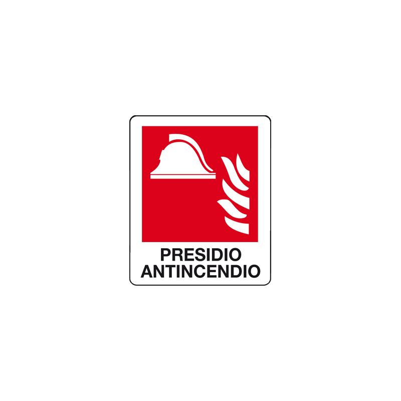 PRESIDIO ANTINCENDIO CARTELLO ADESIVO 100X120 ANTINCENDIO