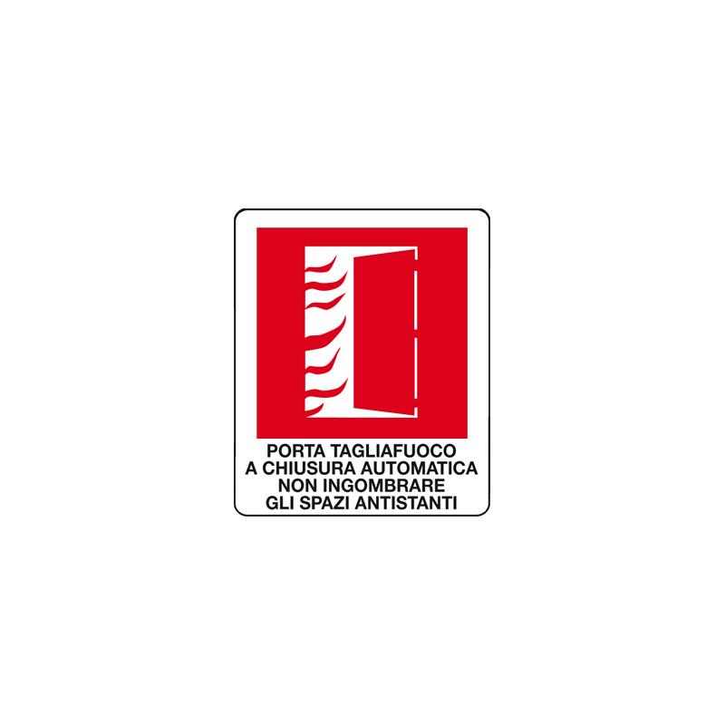 PORTA TAGLIAFUOCO A CHIUSURA AUTOM. CARTELLO ADESIVO 100X120 ANTINCENDIO