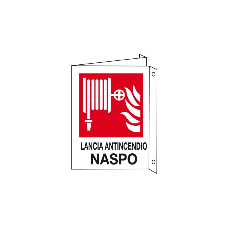 LANCIA ANTINCENDIO NASPO CARTELLO ALLUMINIO 150X175 BIF