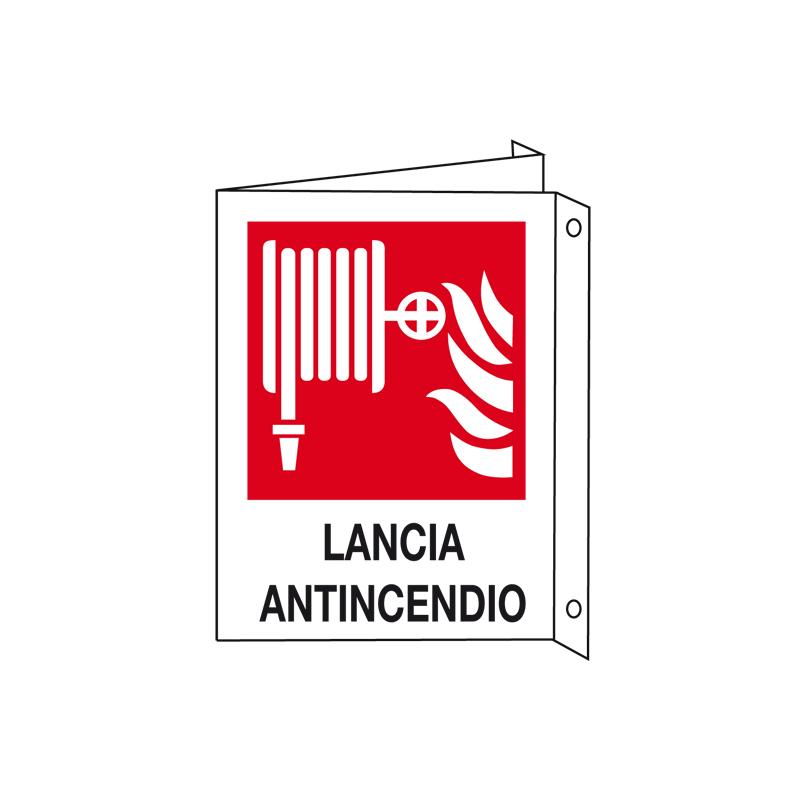 LANCIA ANTINCENDIO CARTELLO ALLUMINIO 200X300 BIF