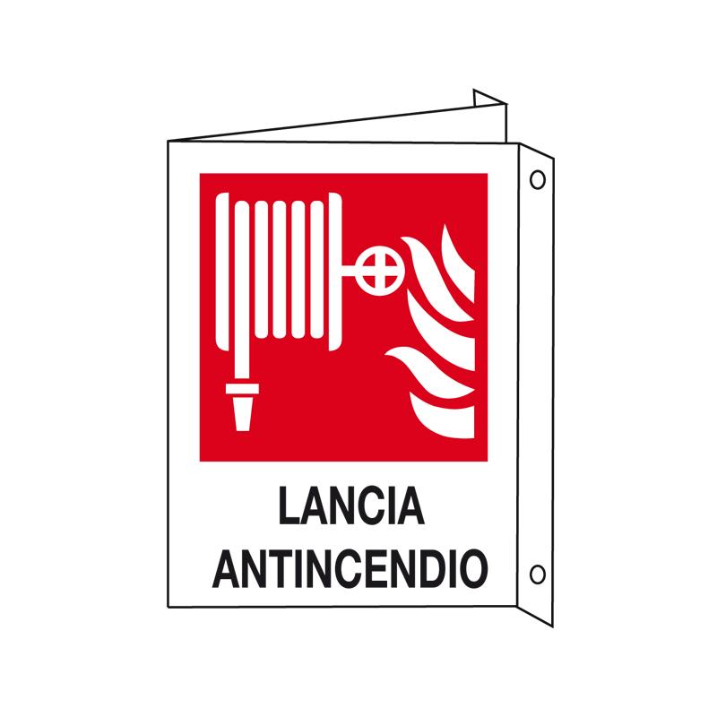 LANCIA ANTINCENDIO CARTELLO ALLUMINIO 330X500 BIF