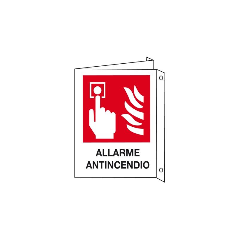 ALLARME ANTINCENDIO CARTELLO ALLUMINIO 150X175 BIF