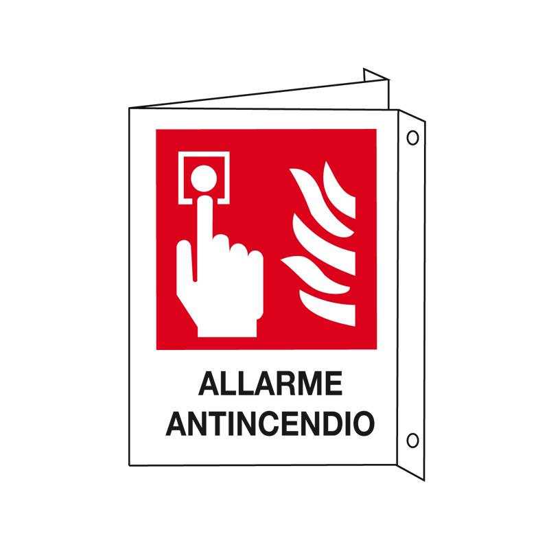 ALLARME ANTINCENDIO CARTELLO ALLUMINIO 330X500 BIF