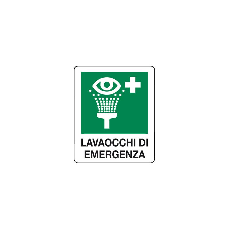 LAVAOCCHI DI EMERGENZA CARTELLO ADESIVO 100X120 EMERGENZA