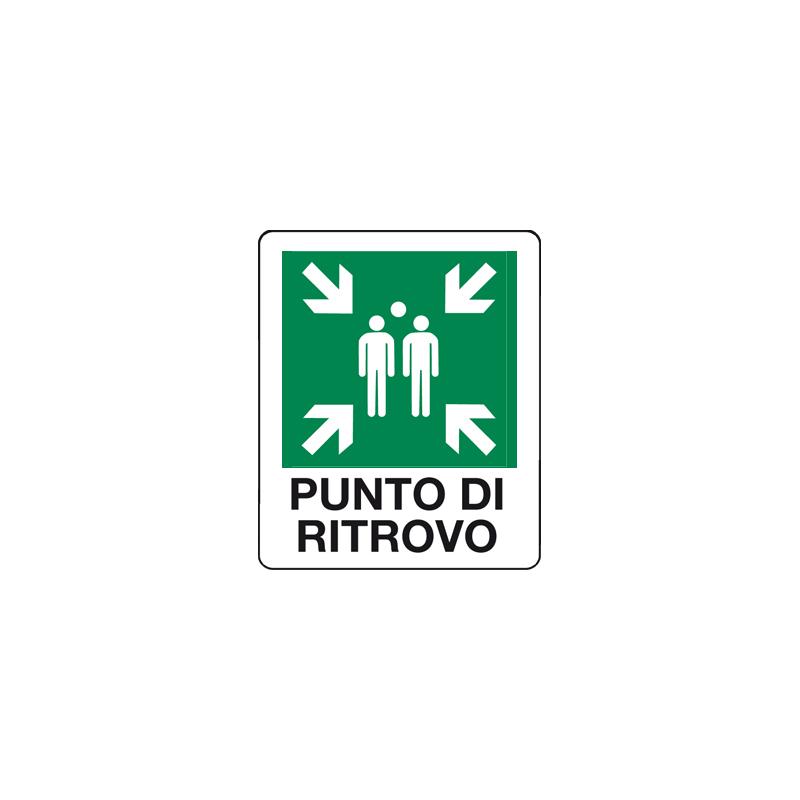 PUNTO DI RITROVO CARTELLO ADESIVO 100X120 EMERGENZA