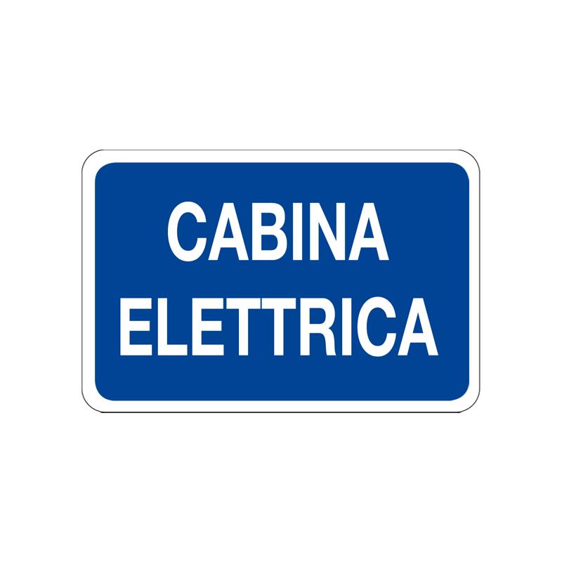 CABINA ELETTRICA CARTELLO ALLUMINIO 300X200 INFORMAZIONE