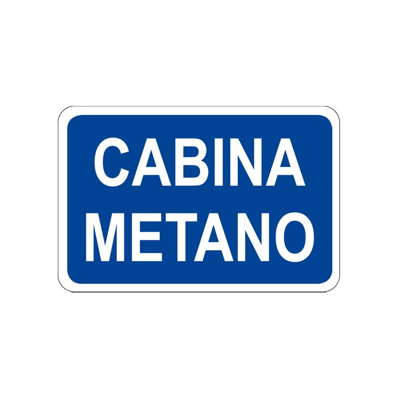 CABINA METANO CARTELLO ALLUMINIO 300X200 INFORMAZIONE
