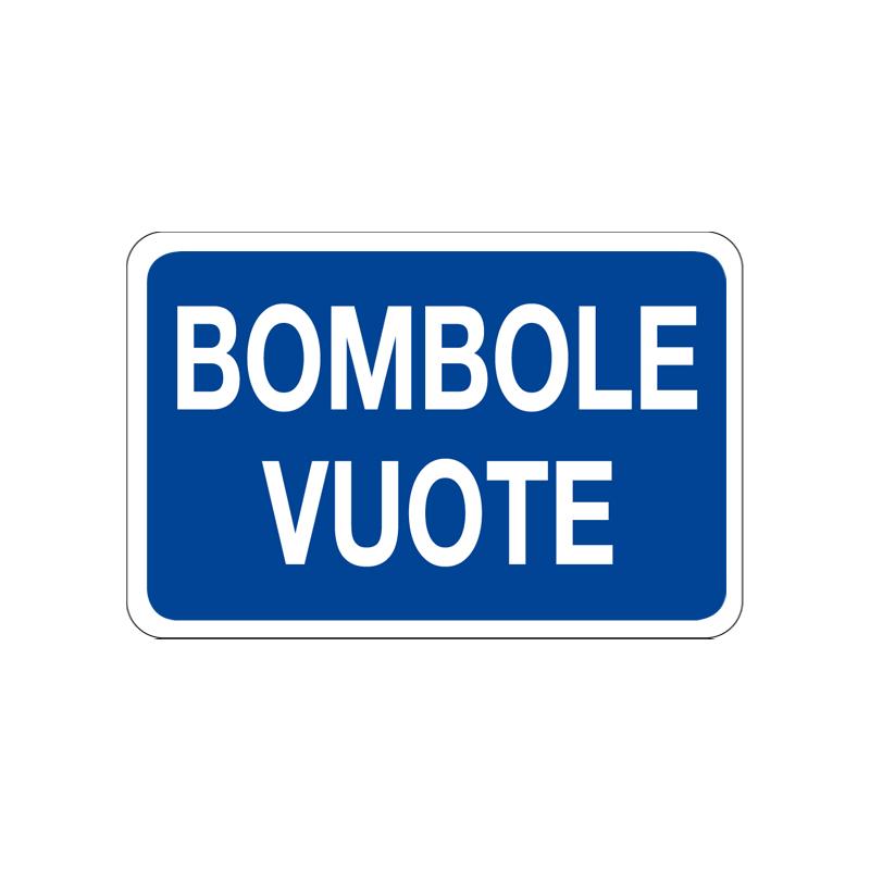 BOMBOLE VUOTE CARTELLO ALLUMINIO 300X200 INFORMAZIONE