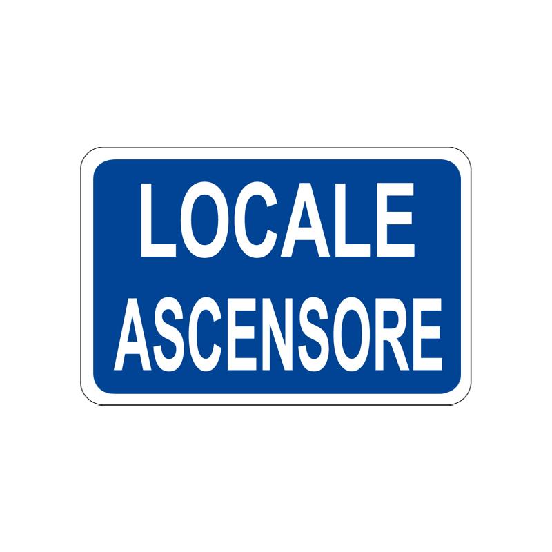 LOCALE ASCENSORI CARTELLO ALLUMINIO 300X200 INFORMAZIONE