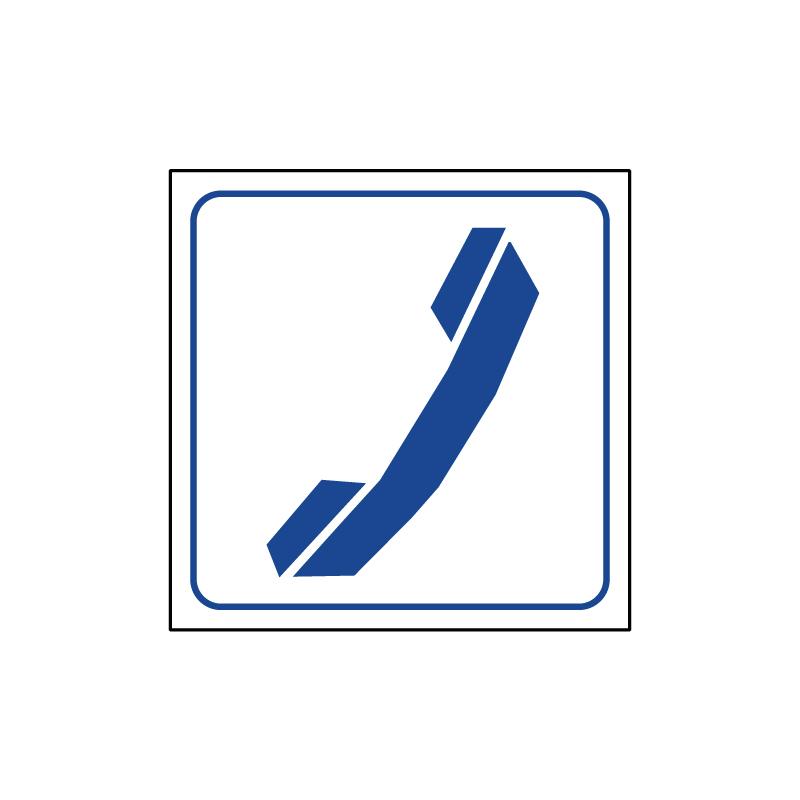 TELEFONO CARTELLO ALLUM. 165X165 INDICAZIONE