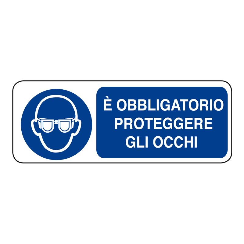 È OBBLIGATORIO PROTEGGERE GLI OCCHI ADESIVO 330X125 OBBLIGO