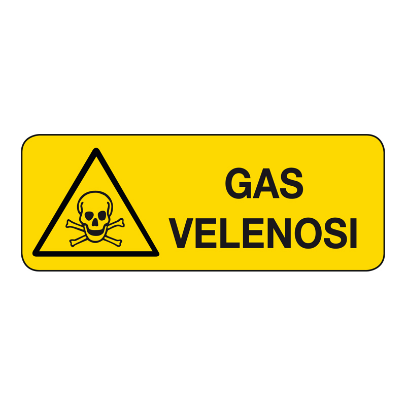 GAS VELENOSI CARTELLO ALLUMINIO 330X125 PERICOLO