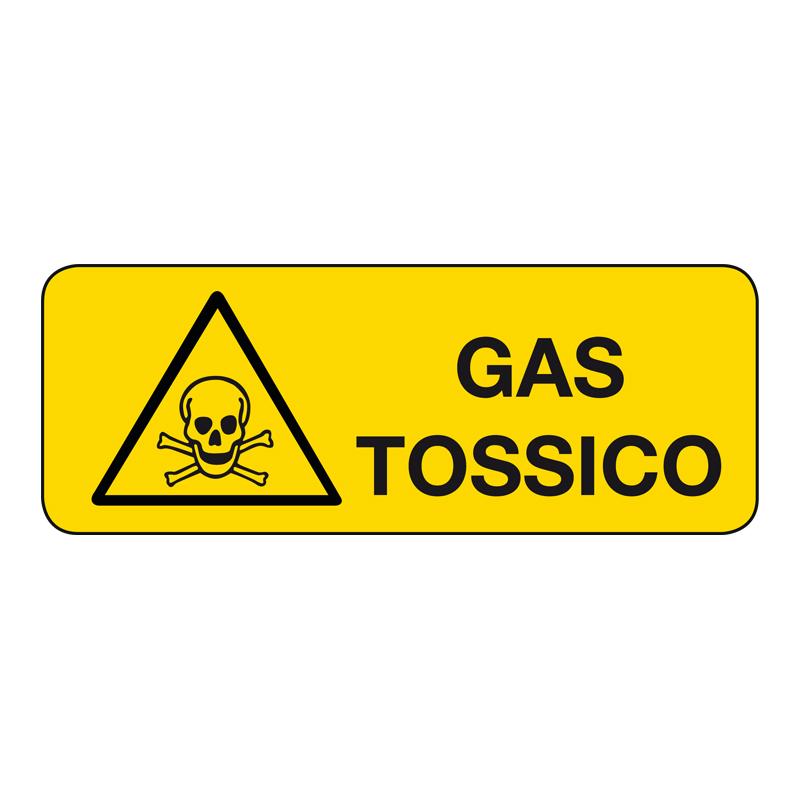 GAS TOSSICO CARTELLO ALLUMINIO 330X125 PERICOLO