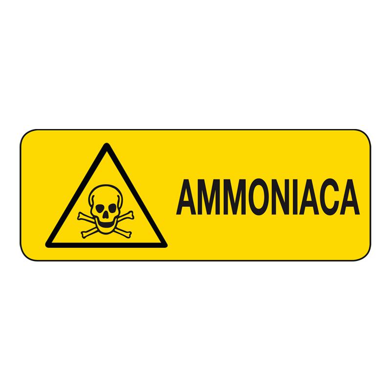 AMMONIACA CARTELLO ALLUMINIO 330X125 PERICOLO