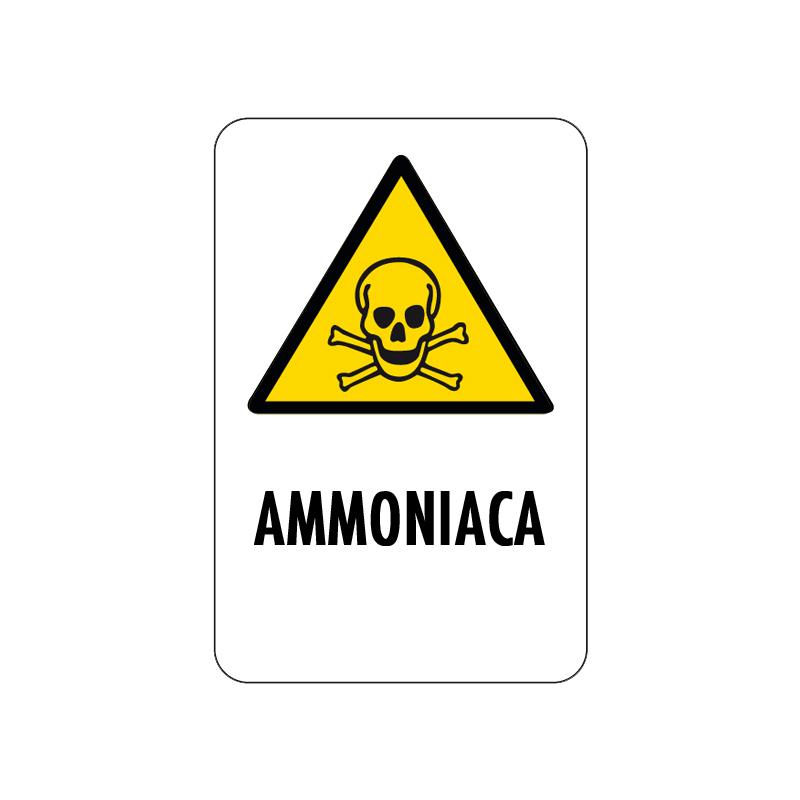AMMONIACA CARTELLO ALLUMINIO 200X300 PERICOLO