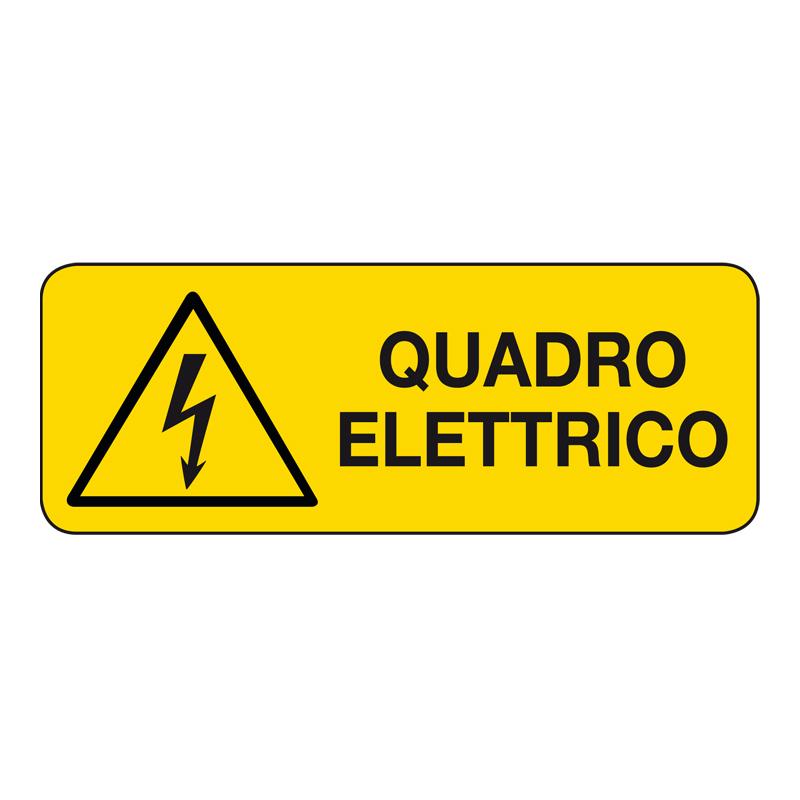 QUADRO ELETTRICO CARTELLO ADESIVO 330X125 PERICOLO